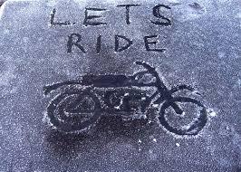 رانندگی با موتورسیکلت در زمستان