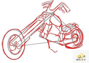 رسم موتورسیکلت