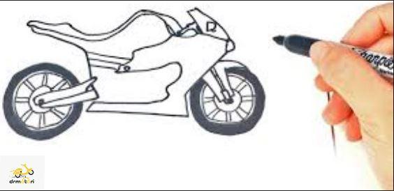 نقاشی کردن موتورسیکلت