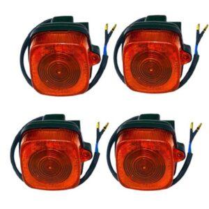 چراغ راهنما LED موتور سیکلت کد 50 مناسب برای موتور های هندا CDI بسته 4 عددی