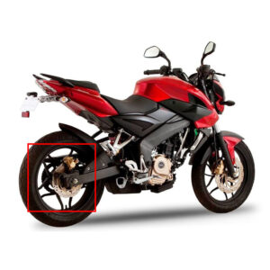 لاستیک توپی عقب موتور سیکلت مدل NS-200 مناسب برای ان اس